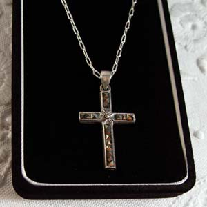 Marchasite  and sterling silver cross